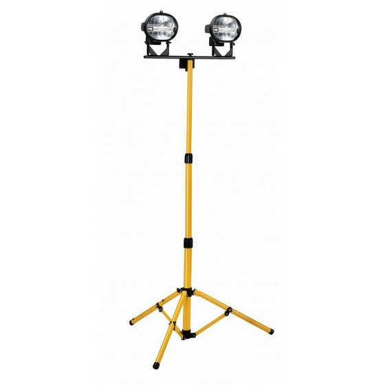 Defender e709080 workshop telescopic twin head 400w halogen floodlight 240v