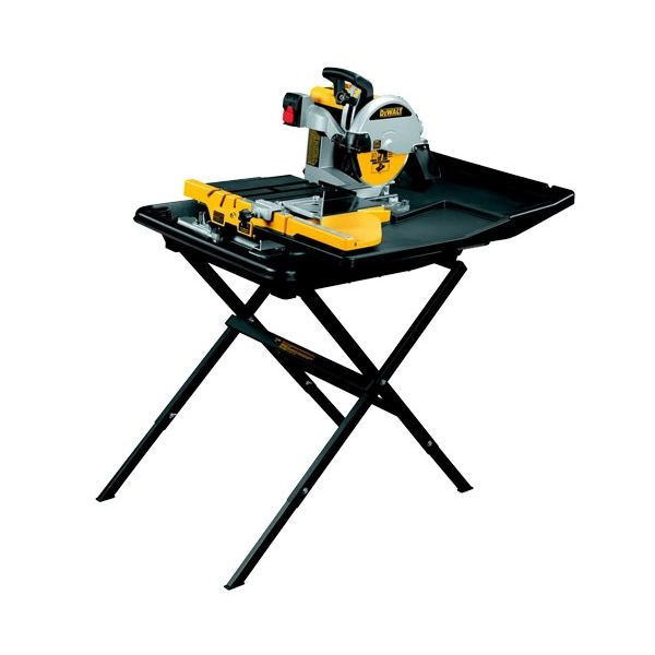 DEWALT D24000 SLIDE TABLE WET TILE SAW 240V + LEG STAND