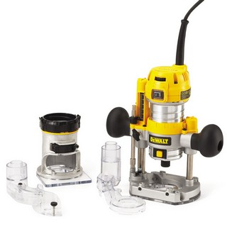 DEWALT D26204K-GB 1/4IN COMBINATION PLUNGE AND FIXED BASE ROUTER 240V