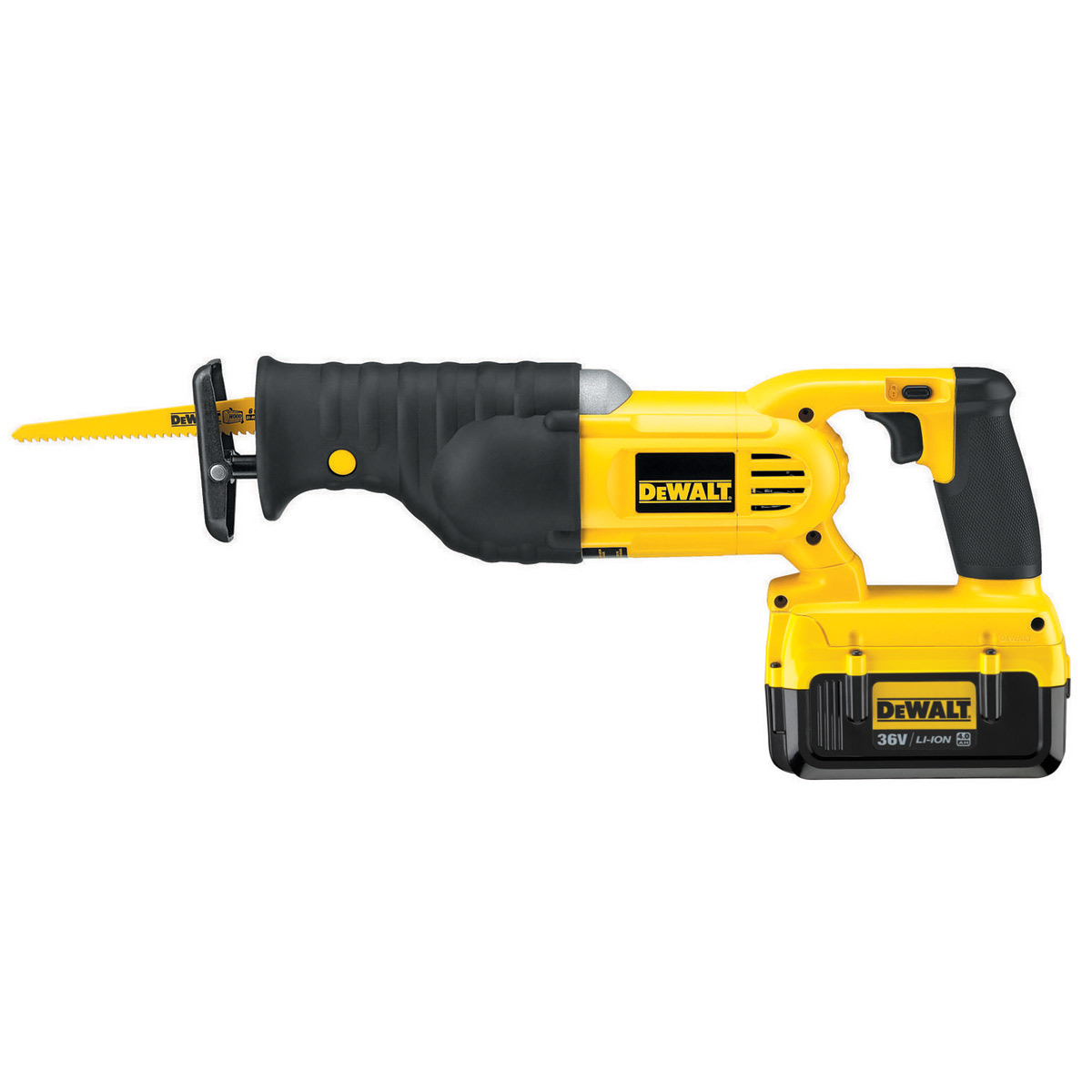 DEWALT DC305D2 36V RECIPROCATING SAW WITH 2X 2.0AH LI-ION BATTERIES
