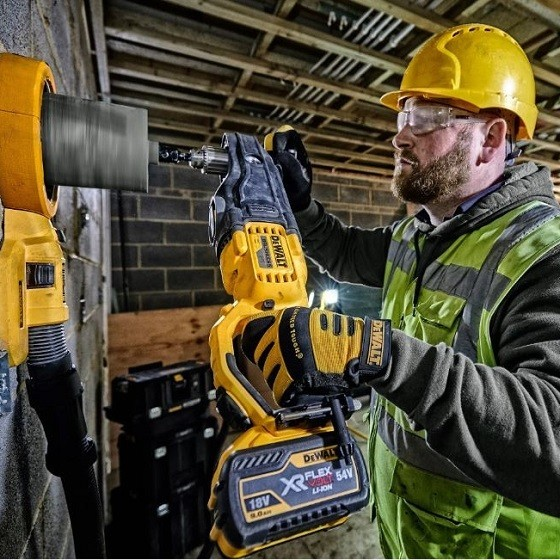 DEWALT DCD470N-XJ 54V FLEXVOLT BRUSHLESS RIGHT ANGLE DIAMOND CORE DRILL (BODY ONLY)