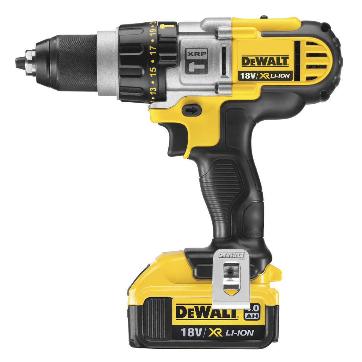 DEWALT DCD985M2 18V 3 SPEED XRP COMBI DRILL WITH 2X 4.0AH LITHIUM-ION XR BATTERIES