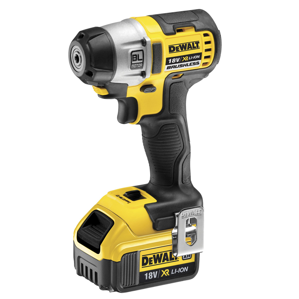 DEWALT DCF895M2 18V VOLT XR BRUSHLESS IMPACT DRIVER WITH 2x 4.0AH LI-ION BATTERIES