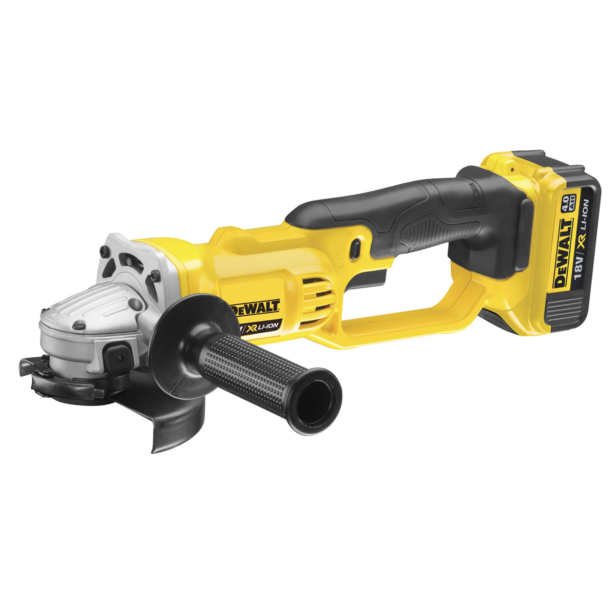 DEWALT DCG412M2 18V XR 125MM ANGLE GRINDER WITH 2 x 4.0AH LI-ION BATTERIES