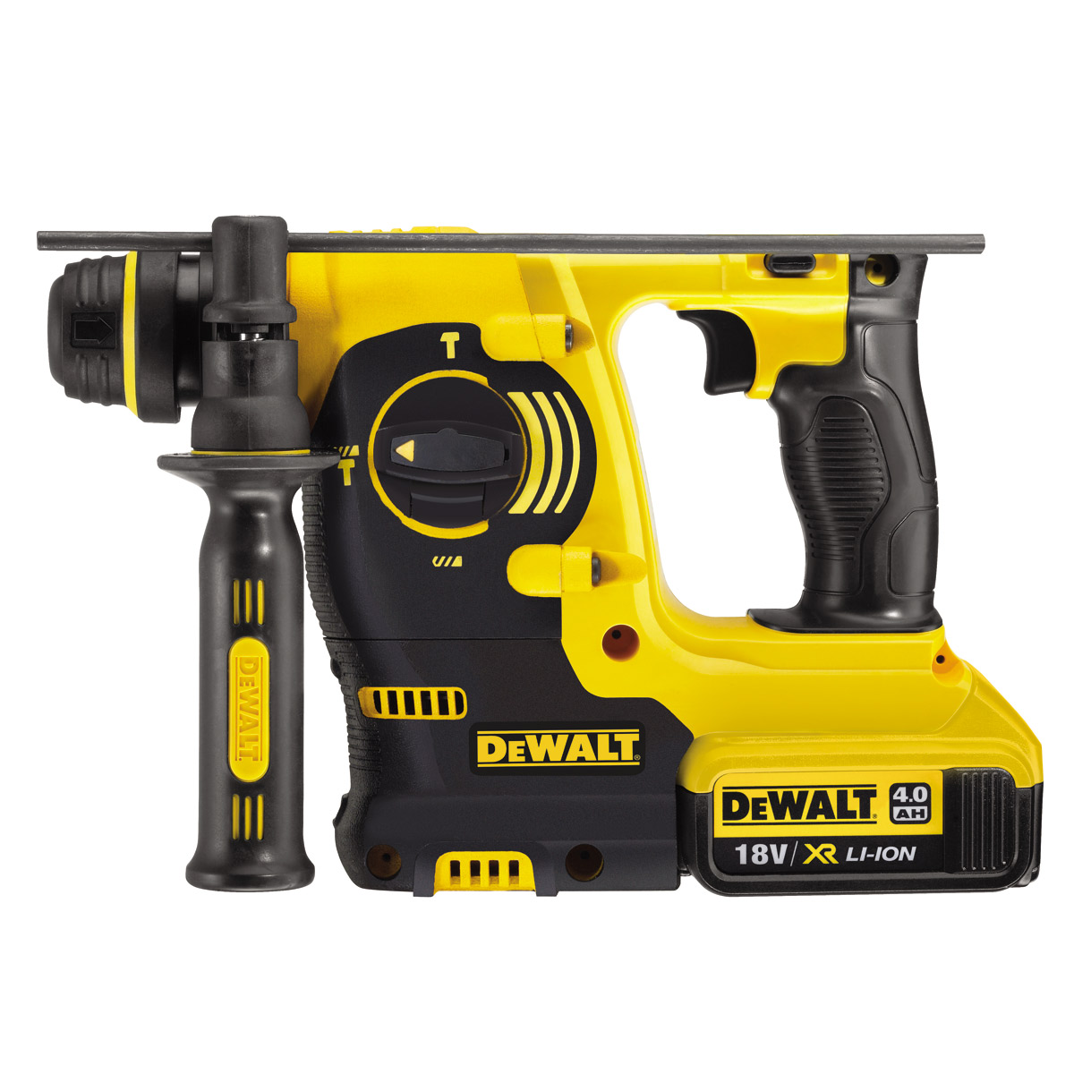DEWALT DCH253M2 18V 3 FUNCTION SDS+ ROTARY HAMMER DRILL WITH 2 X 4.0AH XR LI-ION BATTERIES