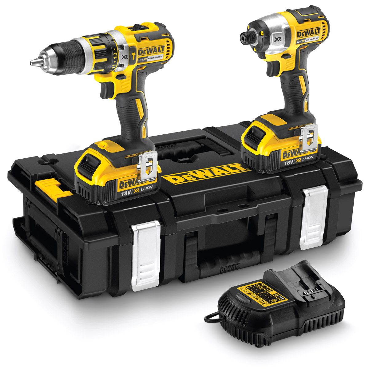 DEWALT DCK250M2 18V BRUSHLESS TWIN PACK WITH 2X 4.0AH LI-ION BATTERIES
