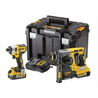 DEWALT DCK2532P2 18V BRUSHLESS SDS & IMPACT DRIVER KIT WITH 2X5.0AH LI-ION BATTERIES