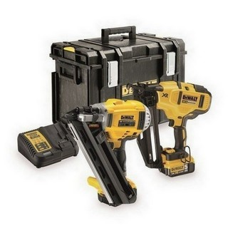 DEWALT DCK264P2 18V XR BRUSHLESS NAILER TWINPACK WITH 2X 5.0AH LI-ION BATTERIES