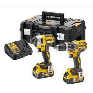 DEWALT DCK266P2T 18V BRUSHLESS TWIN PACK WITH 2X 5.0AH LI-ION BATTERIES IN T-STAK CASE