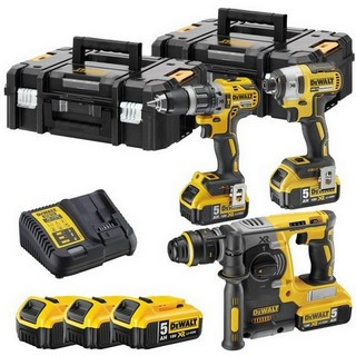 DEWALT DCK368P3T 18V BRUSHLESS TRIPLE KIT WITH 3X5.0AH LI-ION BATTERIES