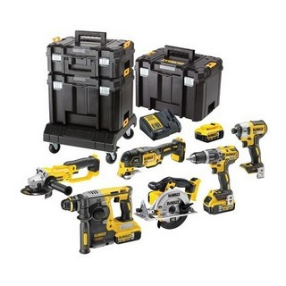 DEWALT DCK654P3T 18V 6 PIECE KIT WITH 3X 5.0AH LI-ION BATTERIES IN 3 TSTAK CASES + ROLLING CARRIER