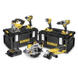 DEWALT DCK692M3 18V XR LI-ION 6 PIECE KIT WITH 3 x 4AH BATTERIES IN 2 x TOUGHSYSTEM KIT BOXES