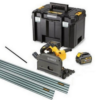 DEWALT DCS520T2 54V XR FLEXVOLT PLUNGE SAW KIT WITH 2X 6.0AH LI-ION BATTERIES