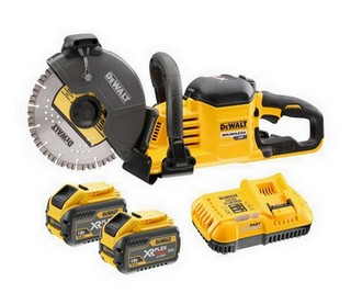DEWALT DCS690X2 54V XR FLEXVOLT 230MM CUT OFF SAW WITH 2X 9.0AH LI-ION BATTERIES