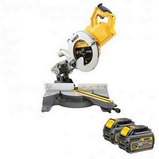 DEWALT DCS778T2 54V XR FLEXVOLT 250MM MITRE SAW WITH 2X 54V 6.0AH LI-ION BATTERIES