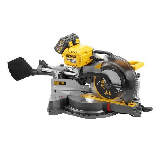 DEWALT DHS780T2 54V XR FLEXVOLT 305MM MITRE SAW WITH 2X 6.0AH LI-ION BATTERIES