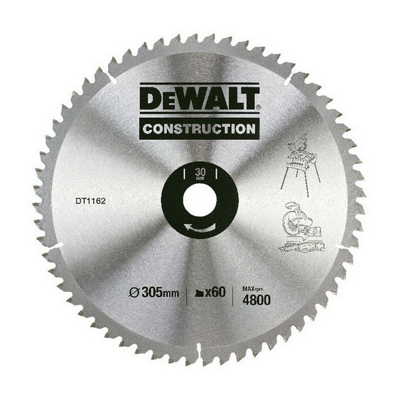 DEWALT DT1162-QZ SERIES 30 CIRCULAR SAW BLADE 305MM X 30MM BORE X 60 TEETH
