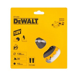 DEWALT DT1202-QZ CORDLESS TRIM SAW BLADE 136MM X 10MM BORE X 30 TEETH