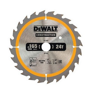 DEWALT DT1949-QZ CONSTRUCTION CIRCULAR SAW BLADE 24T X 20 X 165 MM