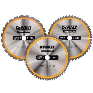 DEWALT DT1964-QZ 305MM MITRE SAW BLADE SET