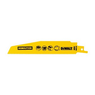 DEWALT DT2303-QZ DEMOLITION RECIP BLADES 152MM X 1.8MM PACK 5