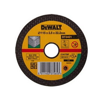 DEWALT DT3401-QZ 115X2.5X22.2MM FLAT STONE CUTTING DISC
