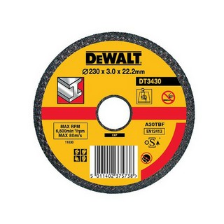 DEWALT DT3430-QZ 230X3.0X22.2MM FLAT METAL CUTTING DISC