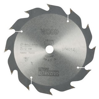 DEWALT DT4012-QZ SERIES 40 CIRCULAR SAW BLADE 184MM X 16MM BORE X 12 TEETH