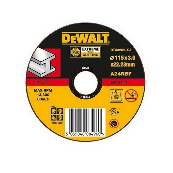 DEWALT DT42210-XJ T1 DPC METAL CUTTING DISC 115X3X22.3MM