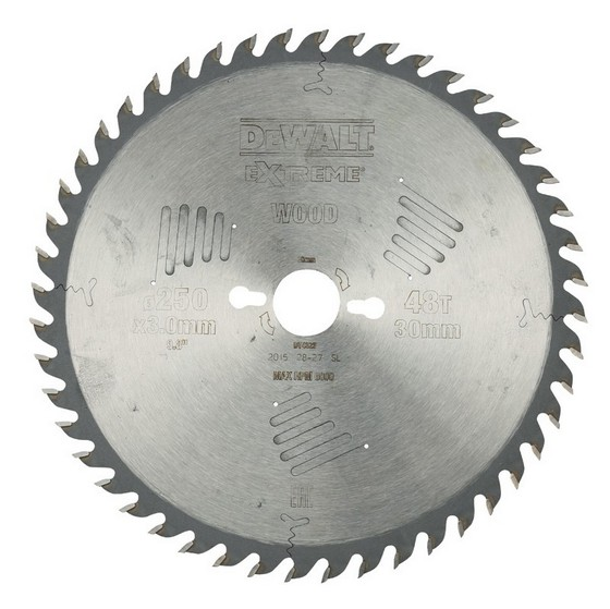 DEWALT DT4323-QZ SERIES 60 MITRE SAW BLADE 250MM X 30MM BORE X 48 TEETH