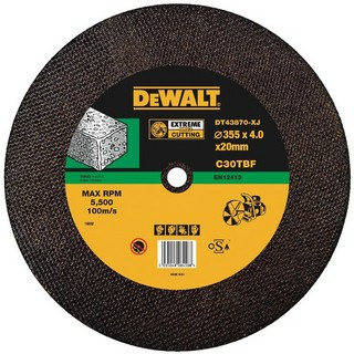 DEWALT DT43870-XJ 350X4X20MM T1 CONCRETE/STONE CUTTING DISC
