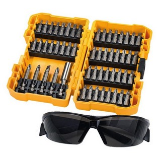 DEWALT DT71540-QZ 53 PIECE ACCESSORIES SET WITH SAFETY GLASSES