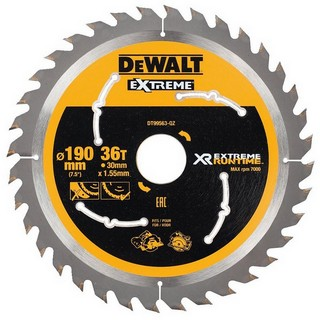 DEWALT DT99563-QZ XR FLEXVOLT SAW BLADE 190MM X 30MM 36T