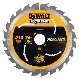 DEWALT DT99565-QZ XR FLEXVOLT SAW BLADE 210MM X 30MM 24T