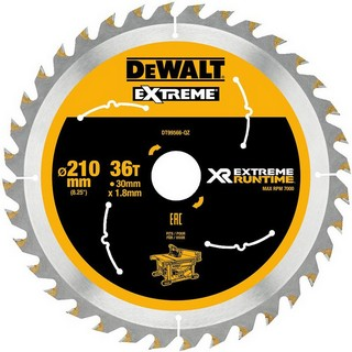 DEWALT DT99566-QZ XR FLEXVOLT SAW BLADE 210MM X 30MM 36T