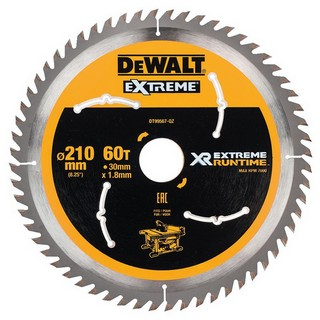 DEWALT DT99567-QZ XR FLEXVOLT SAW BLADE 210MM X 30MM 60T