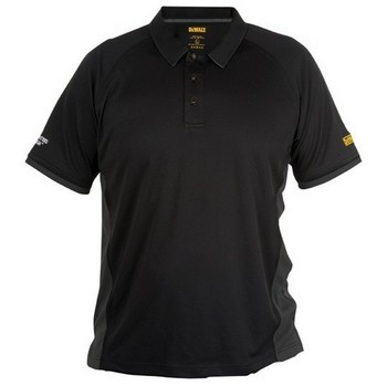 DEWALT DWC35/014 PERFORMER BLACK POLO SHIRT (MEDIUM)