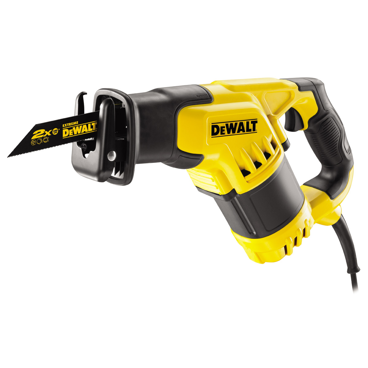 DEWALT DWE357K 10AMP COMPACT RECIPROCATING SAW WITH 4 POSITION BLADE SYSTEM 240V
