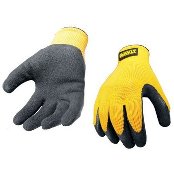 DEWALT GRIPPER LATEX PALM GLOVE YELLOW / BLACK (EXTRA LARGE)