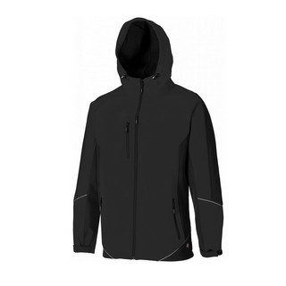 DICKIES JW7010 TWO TONE SOFTSHELL JACKET BLACK