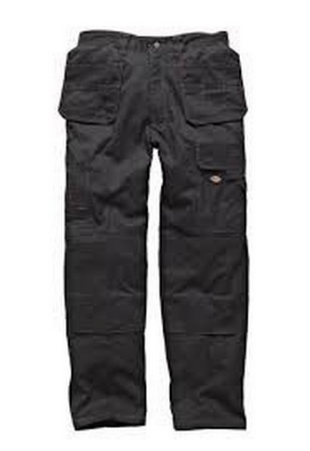 Dickies WD801 Redhawk Pro Trousers 42 Inch Waist 32 Inch Leg Black