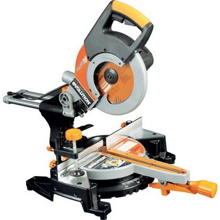 EVOLUTION RAGE 3+ 255MM MULTIPURPOSE SLIDING MITRE SAW 110V