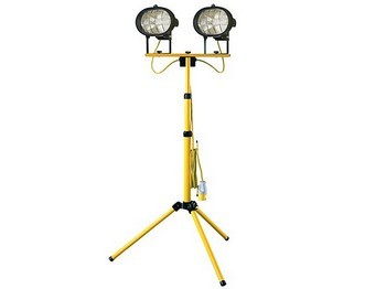 FAITHFULL FPPSL1000CTL POWER PLUS SITELIGHT TWIN ADJUSTABLE STAND 1000W 110v