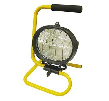 FAITHFULL FPPSL500CP 500W HALOGEN PORTABLE SITE LIGHT 240V