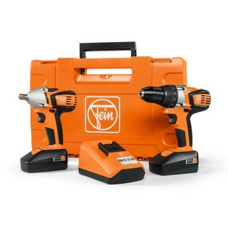 FEIN COMBO ABS18C-ASCDW2C 18V COMBI & IMPACT WRENCH TWIN PACK WITH 2X 2.0AH LI-ION BATTERIES