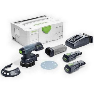 FESTOOL 201528 ETSC125-3.1-PLUS-GB ECCENTRIC SANDER WITH 2X3.1AH ERGO LI-ION BATTERIES