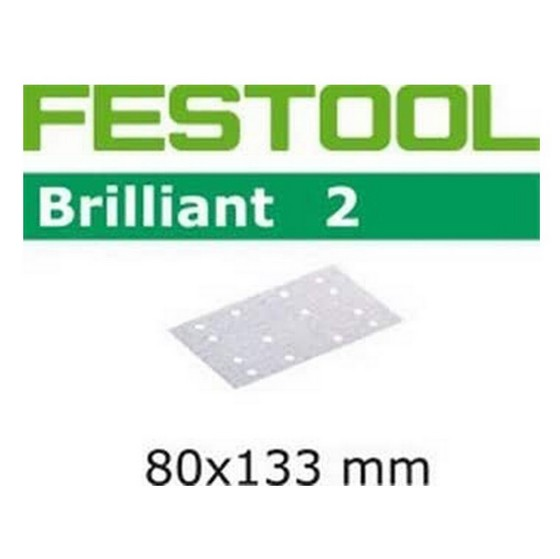 FESTOOL 492861 P120 ABRASIVE SHEET 80 x 133MM PACK OF 10