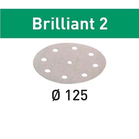 Festool 495991 Pack Of 10 Brilliant 2 Sanding Discs 80 Grit 125mm