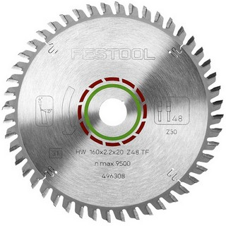 FESTOOL 496308 SPECIAL SAW BLADE 160X2,2X20 TF48