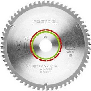 FESTOOL 500123 MITRE SAW BLADE 2.3X30X216MM 60T